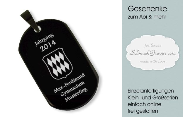 Abi Dog Tags ganz offiziel